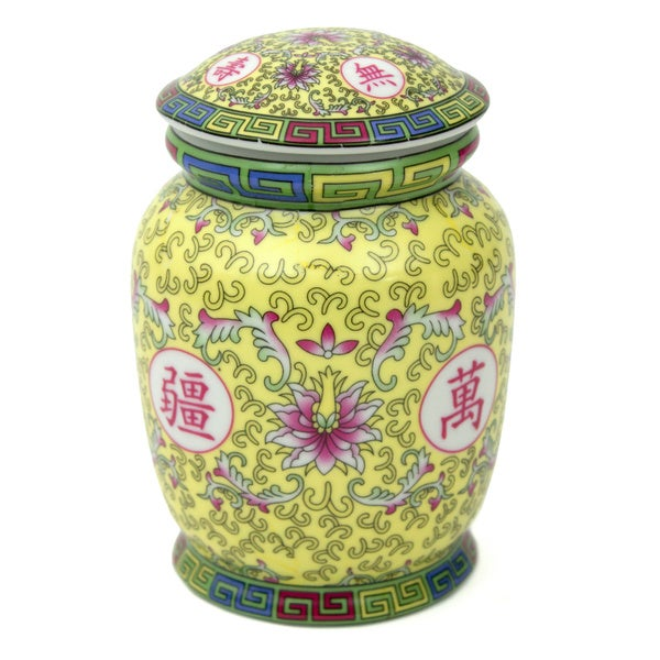 Yellow Ceramic Tea Canister (China)