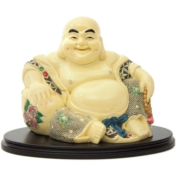 Sitting Fat Buddha on Stand (China)