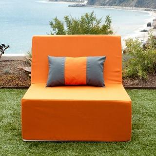 Softblock Lowboy Orange Indoor/ Outdoor Armless Chair