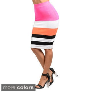 Stanzino Women's Colorblock High-waisted Pencil Skirt