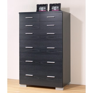 Vancover Black Wood Grain Sustainable 8-drawer Chest