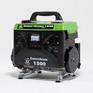 Green and Black 3hp Gas Powered Portable 1500-watt Energy Storm