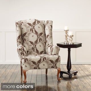 Sure Fit Stretch Dhalia Wing Chair Slipcover