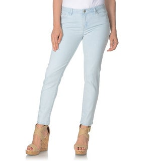 ABS by Allen Schwartz Women's Seersucker Striped Skinny Jeans