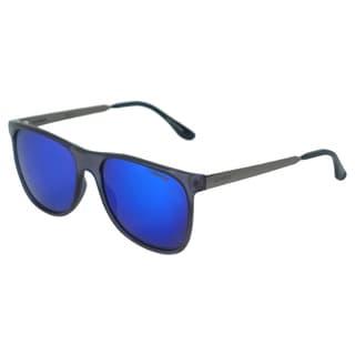 Carrera Men's 6011/S 8JYZ0 Transparent Blue/ Dark Ruthenium Rectangle Sunglasses