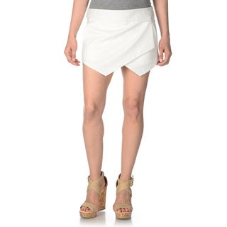 ABS by Allen Schwartz Women's White Envelope Skort