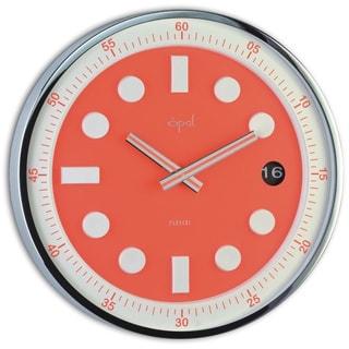 Opal Wrist Watch-like Stainless Steel Round Case Clock