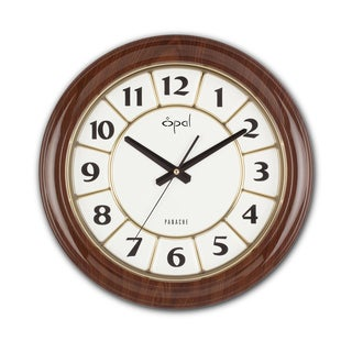 Opal Wood Designer Clock with Noiseless Movement