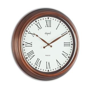 Opal Brown Antique Metal Case Clock