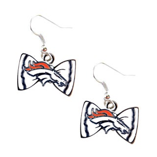 NFL Denver Broncos Bow Tie Earrings