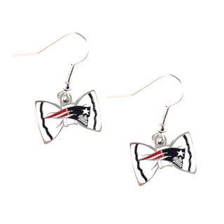 NFL New England Patriots Bow Tie Earrings