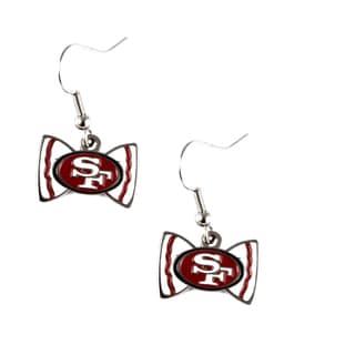 NFL San Francisco 49ers Bow Tie Earrings