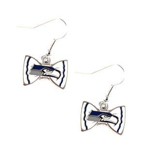 NFL Seattle Seahawks Bow Tie Earrings