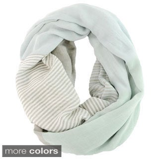 Leto Collection Women's Colorblock Stripe Infinity Scarf