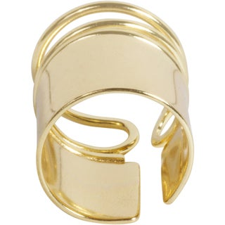NEXTE Jewelry Goldtone Solid Spiral Wire Coil Ring