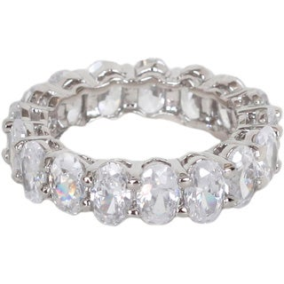 NEXTE Jewelry Oval-cut Cubic Zirconia Full Eternity Band