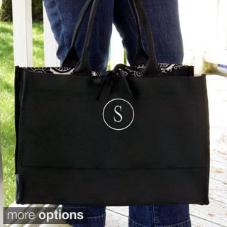 Personalized Damask Fabric Tote Bag