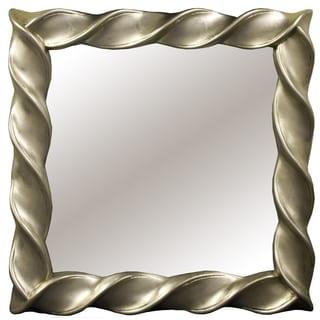 Square Twist Decorative Mirror
