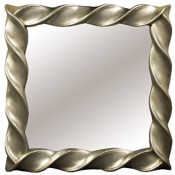 Square Twist Decorative Mirror