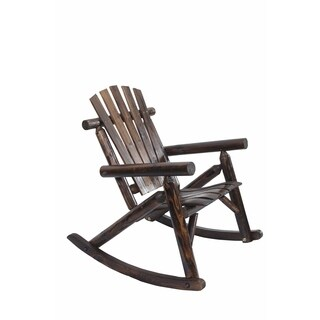 Log Rocking Chair in Burnt Finish