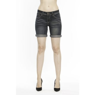 RED by Rose Royce Women's 'Sarah' Dark Wash 6-inch Shorts
