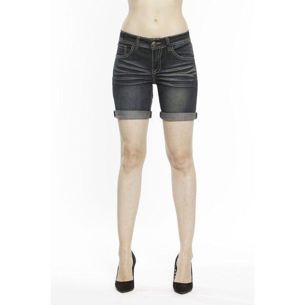 RED by Rose Royce Women's 'Sarah' Dark Wash 6-inch Shorts