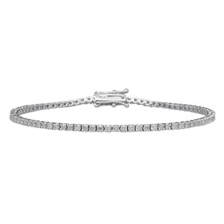 14k White Gold 2ct TDW Diamond Tennis Bracelet (G-H, I1-I2)