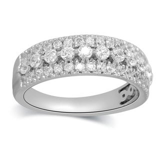 Bridal Symphony 14k White Gold 1/2ct TDW Diamond Multi-row Pave Band (I-J, I1-I2)