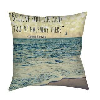 Thumbprintz Flite Throw Pillow (Art by Lisa Hill Saghini)