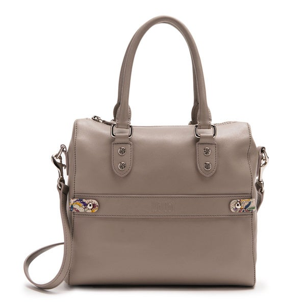 Wa Obi Sue Grey Leather Satchel