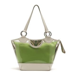 Wa Obi 'Julie' Green Medium Shoulder Handbag