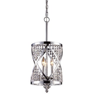 Crystoria 3-light Polished Chrome and Crystal Chandelier