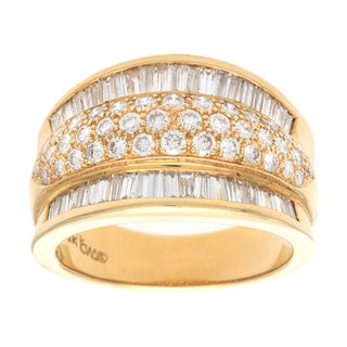 Pre-owned 18k Yellow Gold 1 3/4ct TDW Multi-layer Diamond Band Estate Ring (G-H, VS1-VS2)