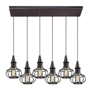 Yardley 6-light Oil Rubbed Bronze Pendant