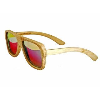 Earth 'Siesta 067B' Wooden Frame and Red Sunglasses
