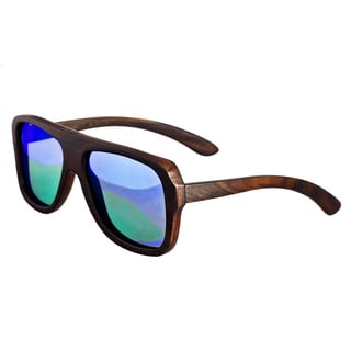 Earth 'Siesta 067E' Wooden Frame and Blue Sunglasses
