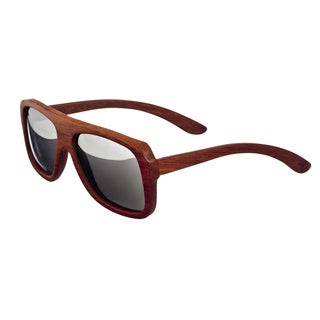 Earth 'Siesta 067R' Wooden Frame and Silvertone Sunglasses