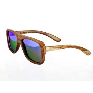 Earth 'Siesta 067z' Wooden Frame and Green Sunglasses