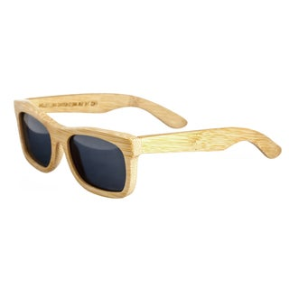 Earth 'Nantucket 035B' Wooden Frame and Black Sunglasses