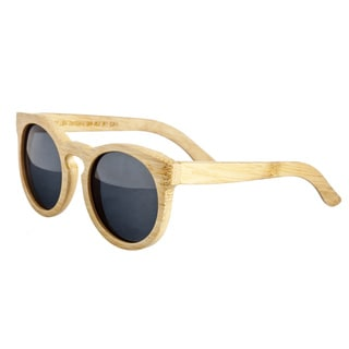 Earth 'Wildcat 032B' Wooden Frame and Black Sunglasses