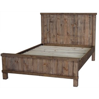 Country Weathered Pine King Bed