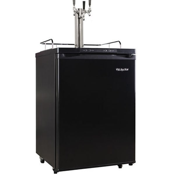 EdgeStar Black Full Size Triple Tap Kegerator with Digital Display