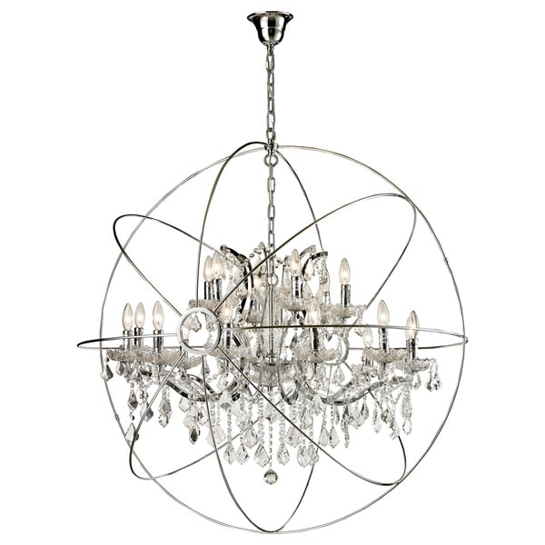 18 Light Iron Egyptian Crystal Orb Chandelier 16418877 Shopping Great Deals