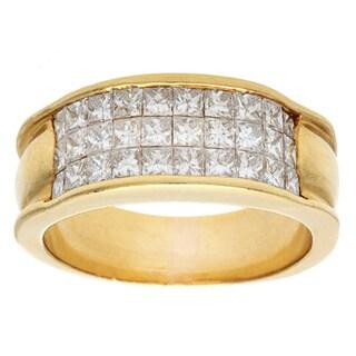 18k Yellow Gold 1 1/2ct TDW Diamond Estate Ring (G-H, VS1-VS2)