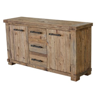 Country Pine Wood Buffet Cabinet