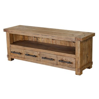 Country Weathered Pine Entertainment Unit