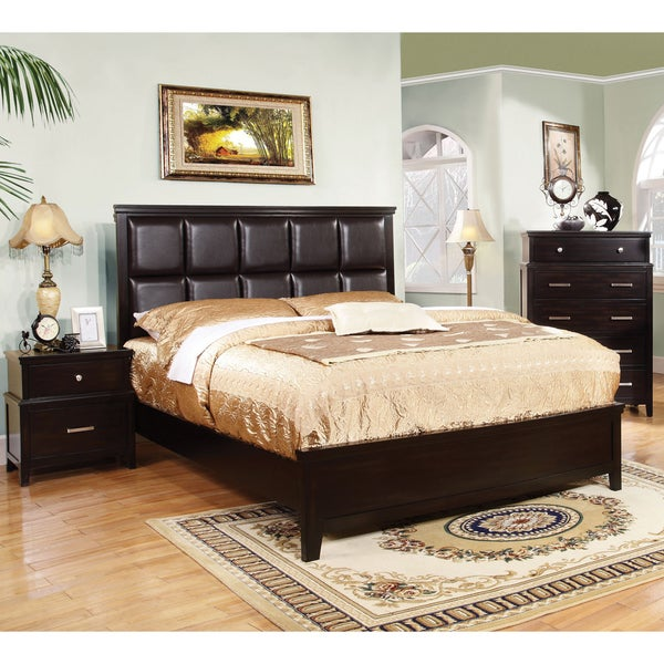Furniture Of America Aiza Modern 3 Piece Espresso Bedroom Set