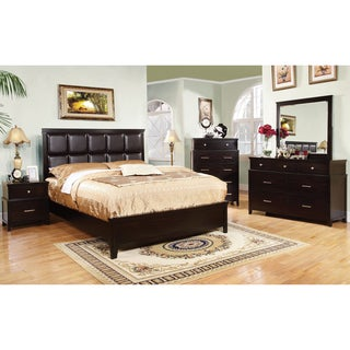 Furniture of America Modern 4-Piece Espresso Bedroom Set