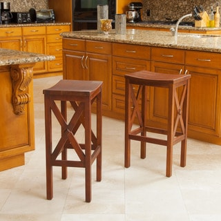 Christopher Knight Home Nigel Wood Barstool (Set of 2)