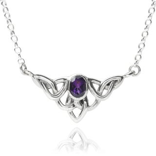 Journee Collection Sterling Silver Cubic Zirconia Celtic Pendant
